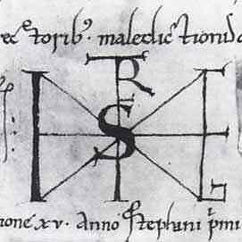 Kézjegye tartalmazza Hórusz ősi elnevezését: HR KRST illetve Mithras (Mithrász) és Kerecsen (Karácsony) nevet. Hórusz és Mithrász születését december 25-éhez kötik. Szent Istvánt egyes források szerint 1000. december 25-én koronázták királlyá Esztergom városában. Más források szerint december 24-én.