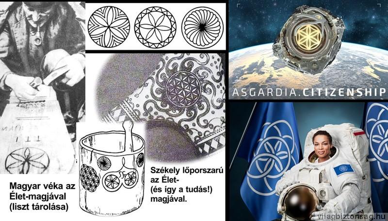 A hét körből álló Élet-magja jelképet választották az űr felé